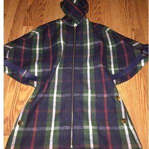 Madchen(Anthropologie) cape plaid coat